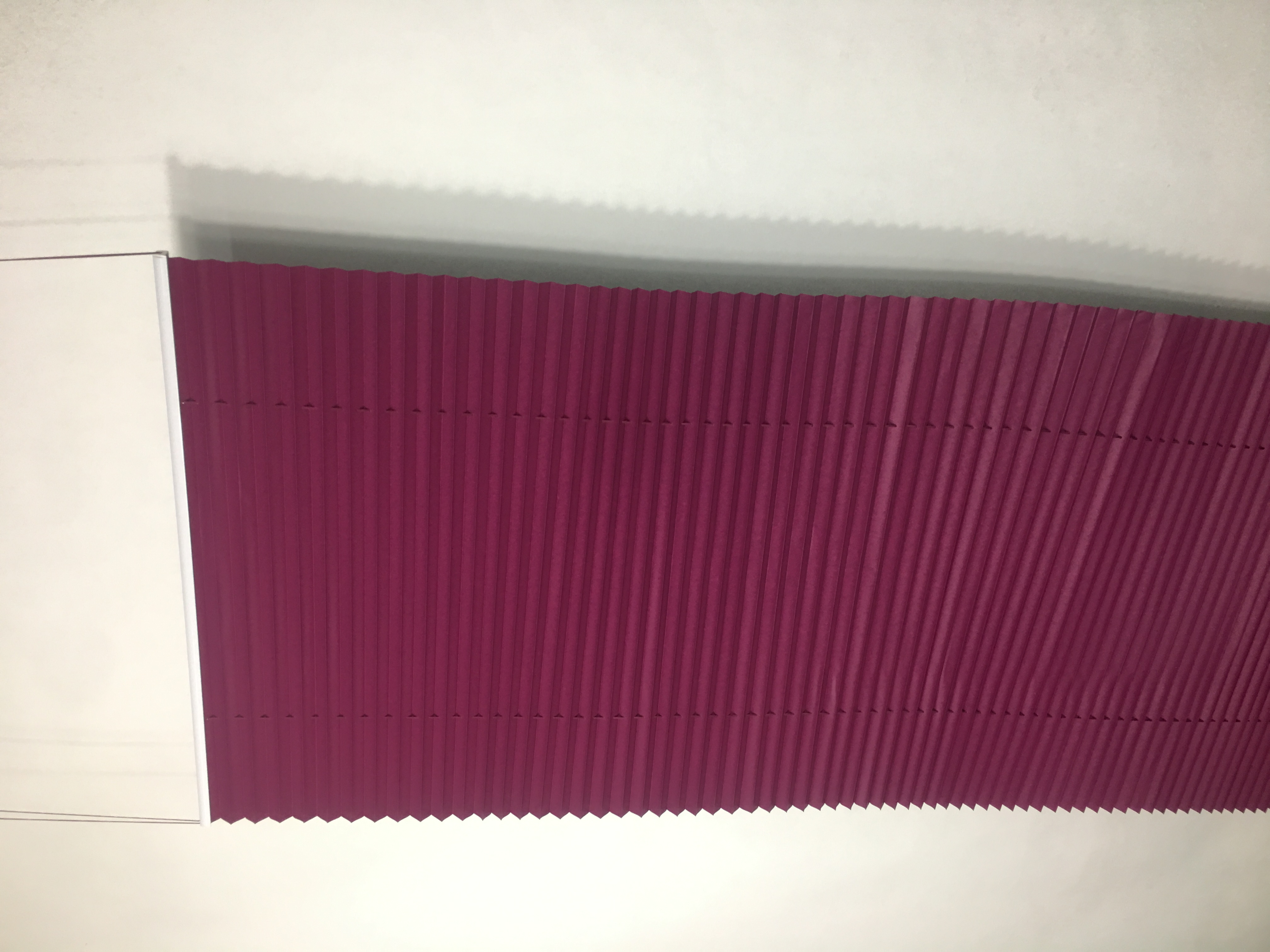 Rose Red Plisse Blind Solid Color Pleated French Blinds